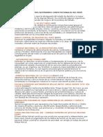 Los Organismos Autónomos Del Perú