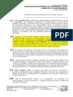8.5.2 P Investigación de Incidentes, NC, AC y AP