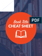 Book Title Cheat Sheet