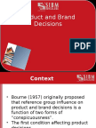 Product and Brand Decisions