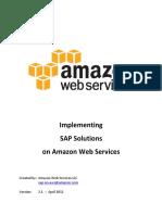 Sap on Aws Implementation Guide v2.11