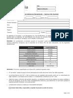 Acuerdo de Servicio Proveedor Tramos 2015
