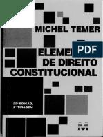 Michel Temer Elementos de Direito Constit Edita