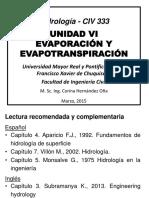EVAPORACION Y EVAPOTRANSPIRACION ( HIDROLOGIA)