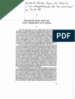 Geertz, Descripción densa
