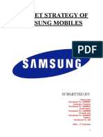 Market Strategy of Samsung Mobiles