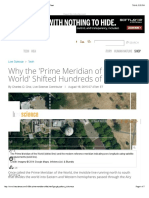 why the prime meridian of the world shifted hundreds of feet