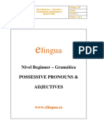 Ingles 1-4 Possessive Pronouns & Adjectives