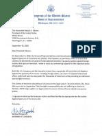 JASTA Letter to President Obama from U.S. Congressman Mike Fitzpatrick