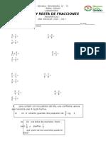 Sumas y Restas de Fracciones
