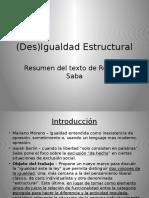 (Des)Igualdad Estructural