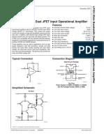 Datasheet Lf 353