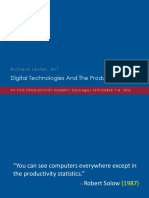 """Nuevas tecnologías y el rompecabeza de la productividad"""" Richard Lester"""