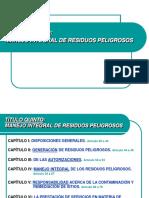 MANEJO INTEGRAL DE RESIDUOS PELIGROSOS