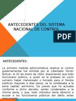 Antecedentes Del Sistema Nacional de Control