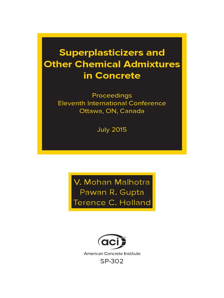 Superplasticizers And Other Chemical Admixtures In Concrete Mill