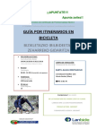 Cartel Guia Por Itinerarios en Bicicleta