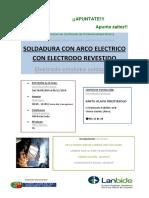 Cartel Soldadura Con Electrodo 2016