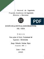 Diseño de La Central Hidroeléctrica Del Gera