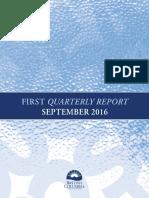 First quarterly report September 2016