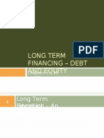 5 - Long Term Financing – Debt and Equity