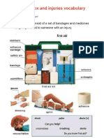 First Aid Box and Injuries Vocabulary
