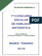 BASES Y TEMARIO_2015_Municipalidad de Cieneguilla