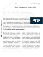 Development of a Food Security Measurement for New Zealand Housholds