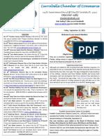 Carrabelle Chamber of Commerce E-Newsletter for September 16th