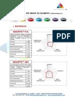 Catálogo Filamentos Smart Materials 3d (Oct 2015)