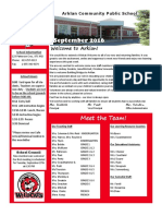 Arklan School Newsletter September 2016