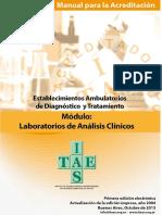 Manual-Establecimientos Ambulatorios de Diagnóstico y Tratamiento - Modulo Laboratorio de Analisis Clinicos-2013