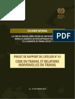 PROJET DE RAPPORT DE L'ATELIER N° 01(1)