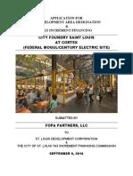 City Foundry, St. Louis - TIF Application