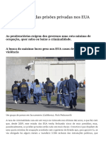 O Negócio Sujo Das Prisões Privadas Nos EUA