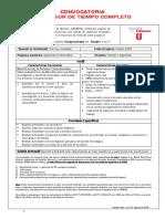 Convocatoria PTC IIF Agosto09