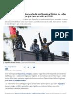 Piden Declarar Crisis Humanitaria Por Llegada a México de Miles de Africanos y Asiáticos Que Buscan Asilo en EEUU