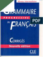 CORRIGÉS grammaire Intermediare