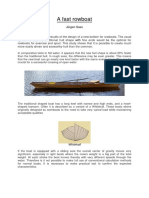Design of a Fast Rowboat