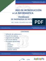 Presentación Cadenas dev c++, dev , xD