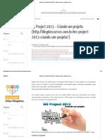 Blog Dos Cursos _ MS Project 2013 – Criando Um Projeto - Blog Dos Cursos