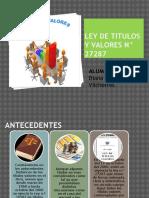 LEY DE TITULOS Y VALORES N° 27287