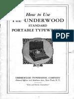 Manual UnderwoodPortable1929