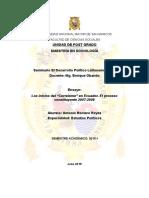 """Los inicios del """"Correísmo"""" en Ecuador. El proceso constituyente 2007-2008"""