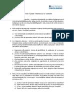PRIMER TALLER DE FUNDAMENTOS DE ECONOMÍA