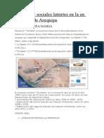 Conflictos Sociales en La Region Arequipa