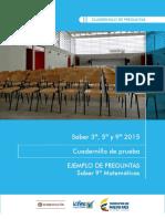 Ejemplos de Preguntas Saber 9 Matematicas 2015 v2