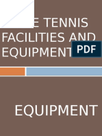 Table Tennis Facilities and Equipments