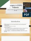 Surgery in ESRD Patients