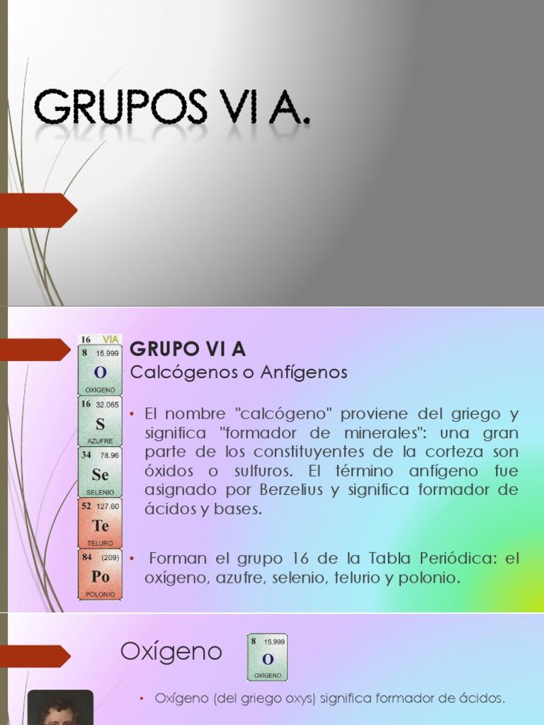 grupo vi a - Tabla Periodica Grupo 6 A